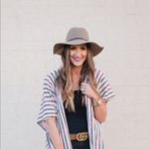 Accessories - Sand Suede Panama Hat